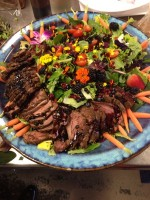 Spring Green salad with Chilled Filet