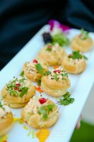 Hatch Green Chili and Goat Cheese Profiterole